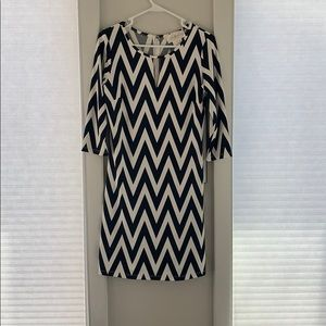 NWOT. Black and white dress,